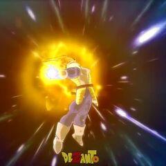 Супер Сайян Веджета заряжает Финальную Вспышку в