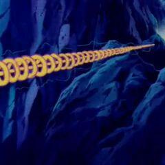 Пикколо атакует космический корабль своим Маканкосаппо