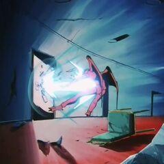 Су Шинрон получает выстрел Камехамеха при попытке открыть дверь