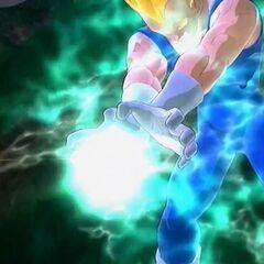 Супер Сайян 2 Веджета заряжает Финальную Вспышку в