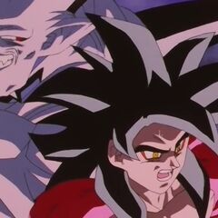 Супер Йи Шинрон многократно превосходит скорость усиленного Супер Сайяна 4 Гоку и запросто его обходит, атакуя его союзников незаметно для самого Гоку