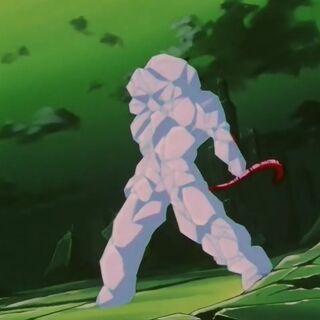 Супер Сайян 4 Гоку полностью заморожен Рейто Косеном Супер Йи Шинрона