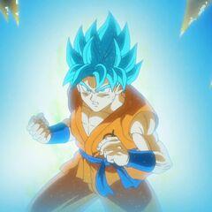 Супер Сайян Голубой Гоку готовится к бою