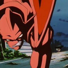 Су Шинрон уворачивается от атак Гоку