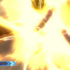 Супер Сайян 2-ой Стадии Веджета заряжает Финальную Вспышку в