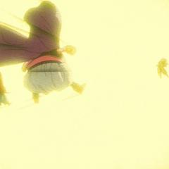 Последнее мгновение превращения Гоку в Супер Сайяна 3