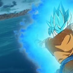 Супер Сайян Голубой Гоку идёт в атаку (1)