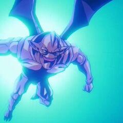 Су Шинрон летит на отброшенного Гоку