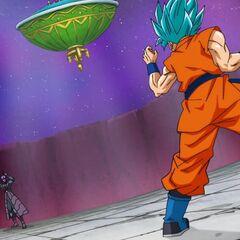 Супер Сайян Голубой Гоку перед атакой