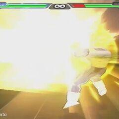 Супер Сайян 2-ой Стадии Веджета выстреливает Финальную Вспышку в