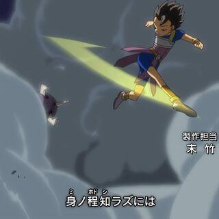 Кабе в опенинге сериала Dragon Ball Super