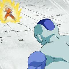 Фрост снова нападает на Супер Сайяна Гоку