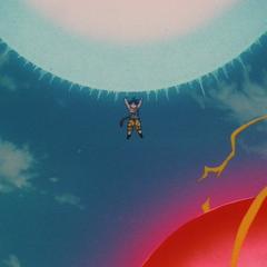 Супер Йи Шинрон бросает в Гоку Силовой Шар Минус Энергии