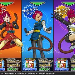 Супер Сайяны Боги Нот, Виола и Форте на изображениях для игры