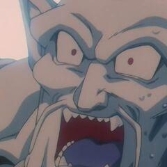 Супер Йи Шинрон в момент попадания в него Супер Ультра Генки Дамы