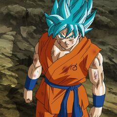 Супер Сайян Голубой Гоку без ауры