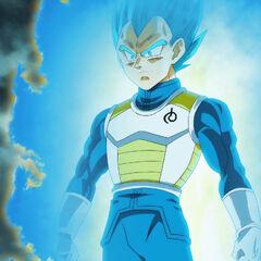 Супер Сайян Голубой Веджета после трансформации