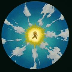 Превращение в Супер Сайяна 3 сжимает вокруг Гоку свет