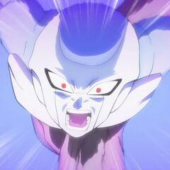 Фрост в последней форме нападает на Супер Сайяна Гоку