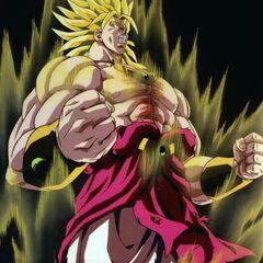 Броли трансформируется в Легендарного Супер Сайяна в бою с Гоханом