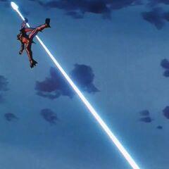 Су Шинрон подбит энергетическим выстрелом Гоку