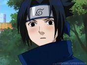 Sasuke blushing