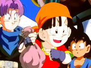 Pan with Trunks, Tommy, Samatha and Goku