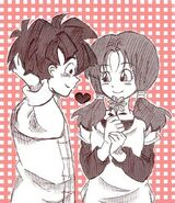 Videl liking Gohan as close friends