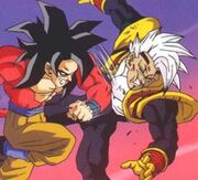 Goku punching bebi007