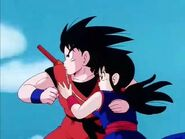 Goku and Chi-Chi going to save the Fire Mountain