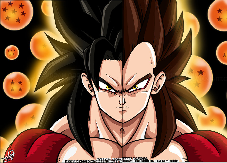 Super Saiyan 4 Goku And Vegeta By Zen904
