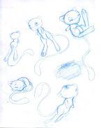 Mew sketches by disneyfan 01