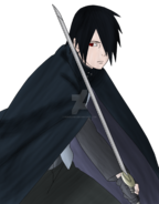 Uchiha sasuke boruto the movie lineart colored by rosolinio-d9p4pze