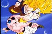 Goku hitting kid buu
