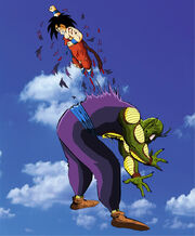 Kid goku kills king piccolo