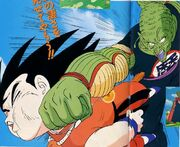 King piccolo punches kid goku