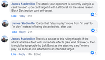 Manipulative Left Burst vs attack its preventing