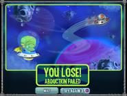Alien Invasion Space Trip Lose