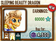 Sleeping Beauty Dragon in Store