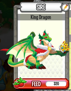 Dc-king dragon(adult)smiling on his reflection in the crown