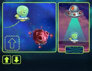 Popup alien instructions