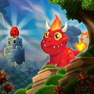 Flaming Rock Dragon-Hatch