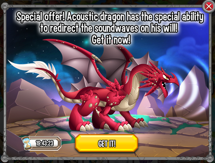 how to get acoustic dragon in dragon city