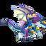 Blue Alien Dragon 3