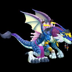 Blue Alien Dragon