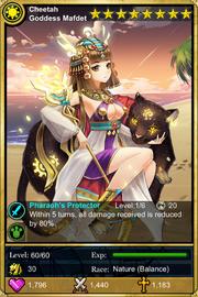 Cheetah Goddess Mafdet