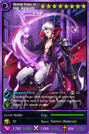 Grand Duke of Hell, Astaroth