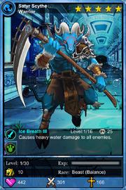 Satyr Scythe Warrior