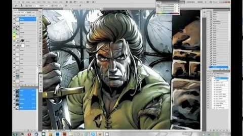 Dragonero illustration - part 2 2 - coloring