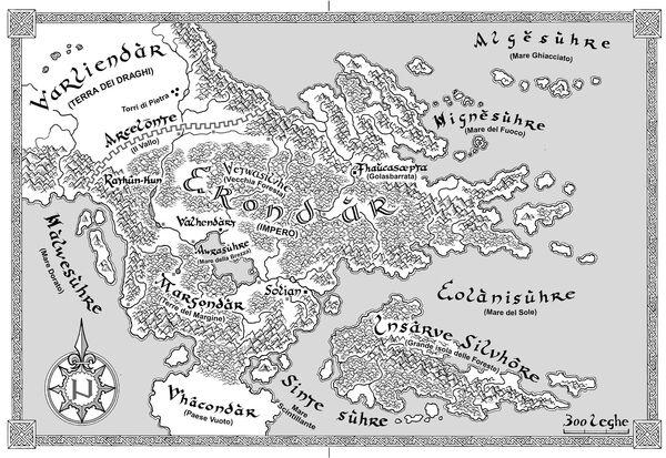 Mappa dell'Impero Erondariano